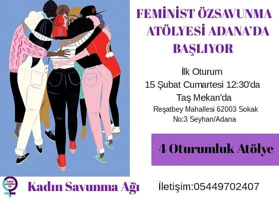 Adana'da Feminist Özsavunma Atölyeleri Başlıyor