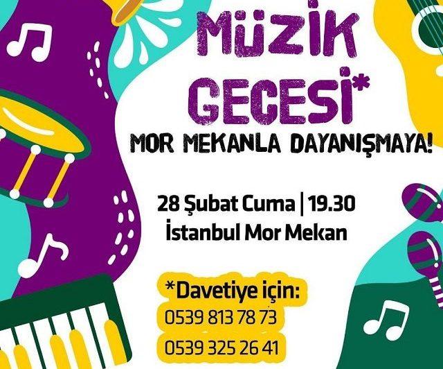 İstanbul Mor Mekan'la dayanışmak için Müzik Gecesi'nde buluşuyoruz!