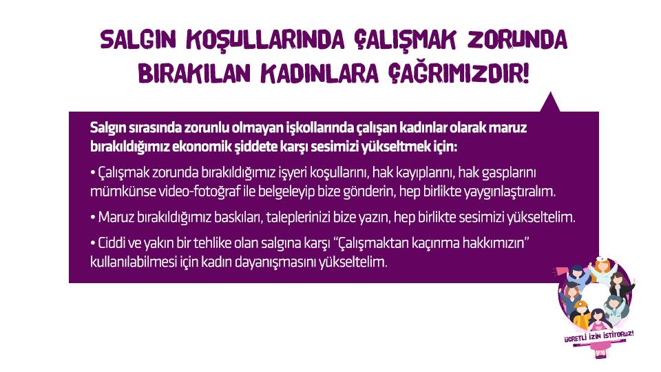 Kadın Savunma Ağı'ndan acil çağrı: Çarkları durdurun, ekonomik şiddete son verin, kadınları koruyun!