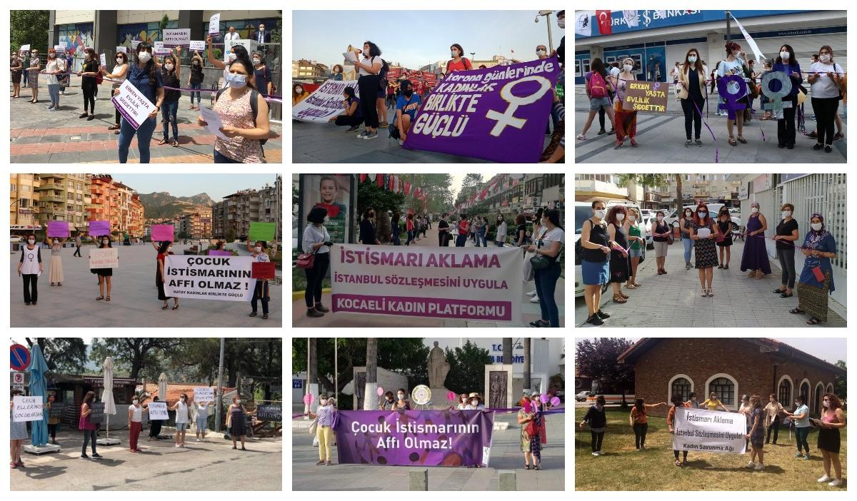 Kadınlar sokakta: İstismarı aklama, İstanbul Sözleşmesi'ni uygula!