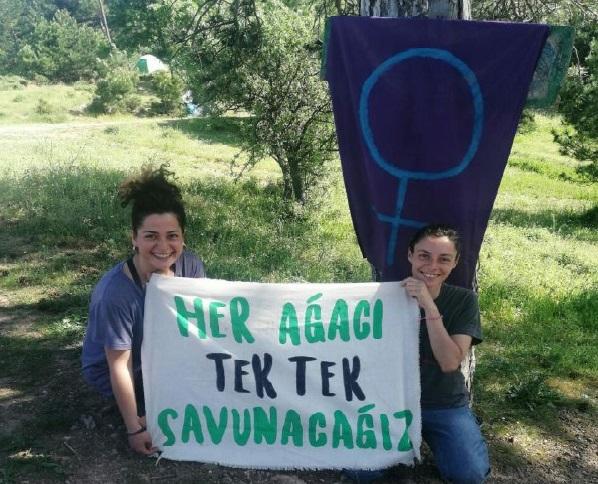 """Kazdağları direnişçisi kadınlar: """"Onlar ormandan gidene kadar! -Deniz Uysal"""