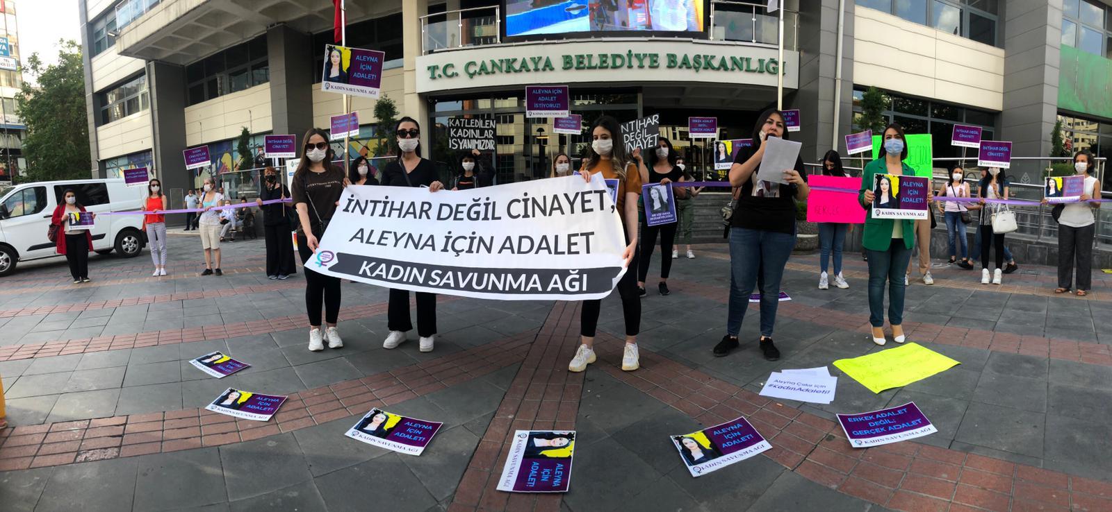 """Kadın Savunma Ağı'ndan eylem: """"Aleyna ve katledilen tüm kadınlar için adalet!"""""""